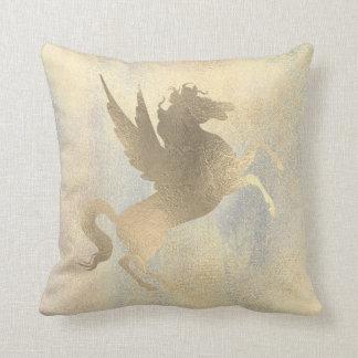 Almofada Pintura de prata Sparkly do cavalo do ouro do