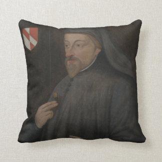 Almofada Pintura do retrato de Geoffrey Chaucer do vintage