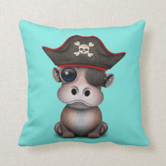 Almofada Pirata bonito do hipopótamo do bebê
