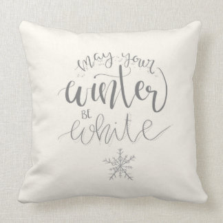 Almofada Pode seu inverno ser descanso branco