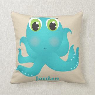 Almofada Polvo feliz bonito do travesseiro do miúdo