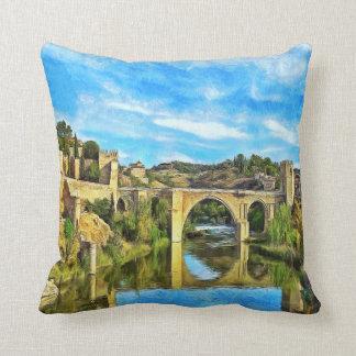 Almofada Ponte de Alcantara em Toledo.