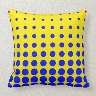 Almofada Ponto colorido azul & amarelo do abstrato do vetor