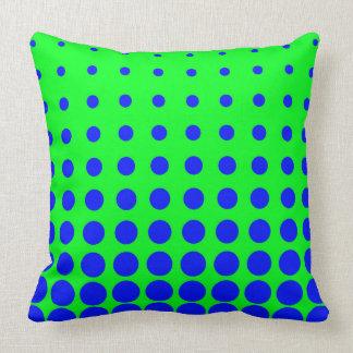 Almofada Ponto colorido azul & verde do abstrato do vetor