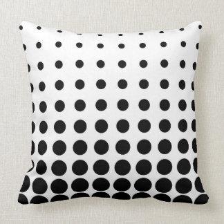 Almofada Ponto colorido preto & branco do abstrato do vetor