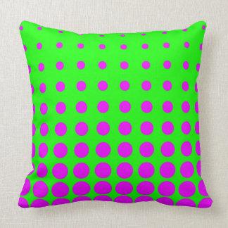 Almofada Ponto colorido roxo & verde do abstrato do vetor