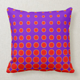 Almofada Ponto colorido roxo & vermelho do abstrato do