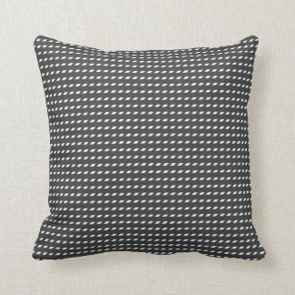 Almofada Ponto preto e branco do paralelogramo