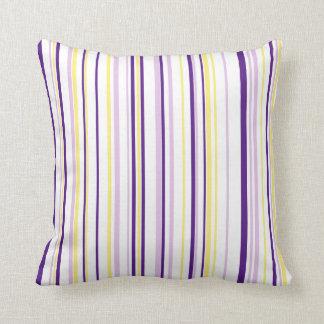 Almofada Pontos & listras roxos & travesseiro reversível