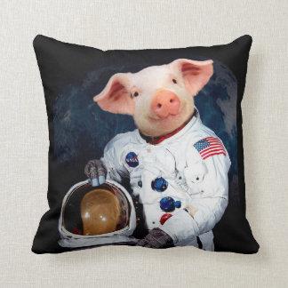 Almofada Porco do astronauta - astronauta do espaço