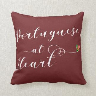 Almofada Português no coxim do lance do coração, Portugal