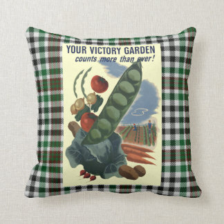 Almofada Poster da guerra do jardim de vitória do vintage