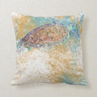 Almofada Praia do travesseiro decorativo | da tartaruga de