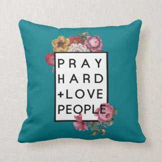 Almofada Pray pessoas do travesseiro decorativo floral do