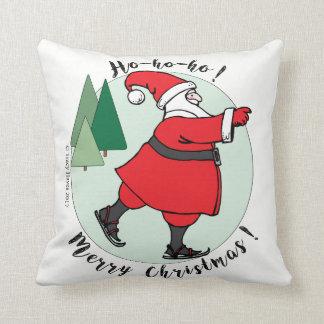 Almofada Presente de patinagem do Natal do travesseiro