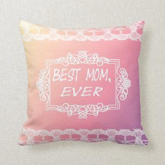 Almofada Presente Pastel do dia das mães do melhor rosa da
