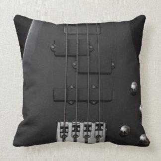 Almofada Preto baixo do instrumento da guitarra
