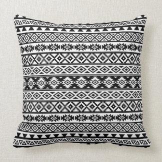 Almofada Preto & branco estilizados astecas do teste padrão