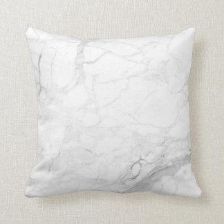 Almofada Preto de PixDezines+Veias de mármore brancas