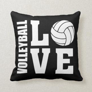 Almofada Preto do amor do voleibol