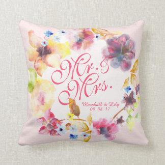 Almofada Primavera floral personalizado que Wedding o