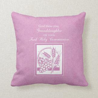 Almofada Primeiro comunhão da neta, cor-de-rosa