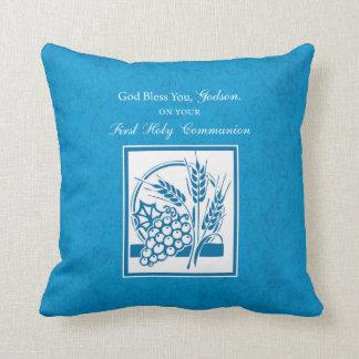 Almofada Primeiro comunhão do Godson, trigo, uvas azuis