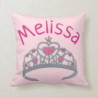 Almofada Princesa cor-de-rosa bonito Tiara Coroa
