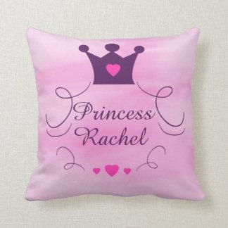 Almofada Princesa cor-de-rosa Coroa Tiara Direitos Coração