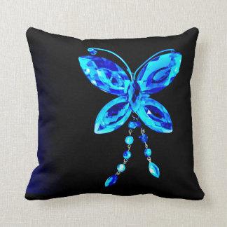 Almofada Prisma azul da borboleta