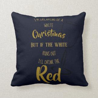 Almofada Provérbios engraçados do Natal que sonham o vinho