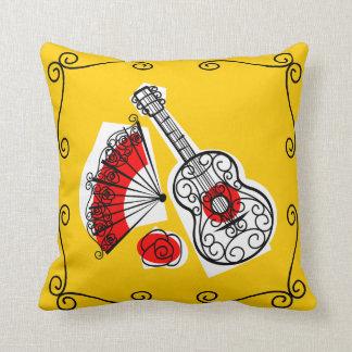 Almofada Quadrado espanhol do travesseiro dos cantos das