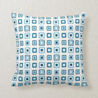 Almofada Quadrados azuis em quadrados azuis