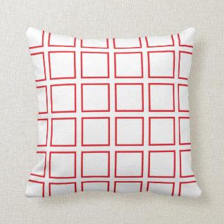 Almofada Quadrados esboçados vermelho