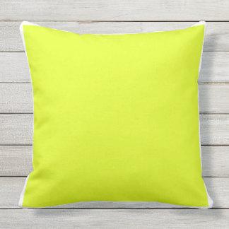 Almofada Quadro amarelo/branco brilhante liso contínuo