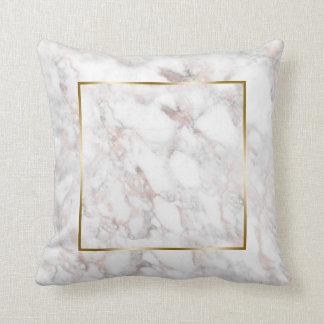 Almofada Quadro de pedra de mármore da beira do ouro do