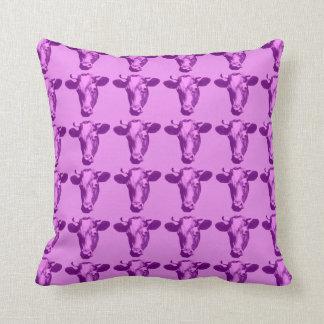 Almofada Quatro vacas cor-de-rosa do pop art