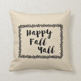 Almofada Queda feliz você travesseiro decorativo decorativo
