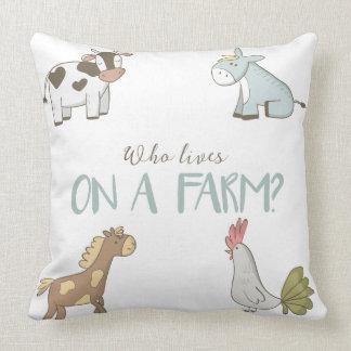Almofada Quem vive em um travesseiro da fazenda