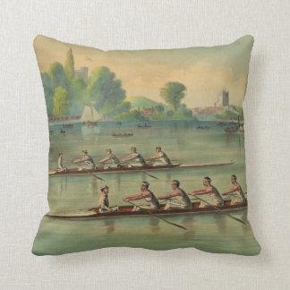 Almofada Raça de barco da raça do grupo dos Rowers do
