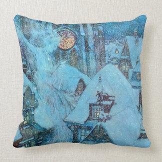 Almofada Rainha da neve em belas artes de Dulac da noite de