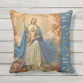 Almofada Rainha da Virgem Maria dos anjos