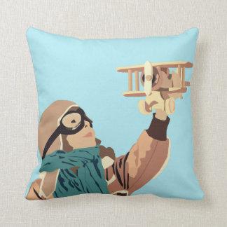 Almofada Rapariga com o travesseiro plano de madeira
