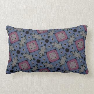 Almofada rectangle Jimette Desenho azul cinzento