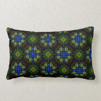 Almofada rectangle Jimette Desenho verde azul