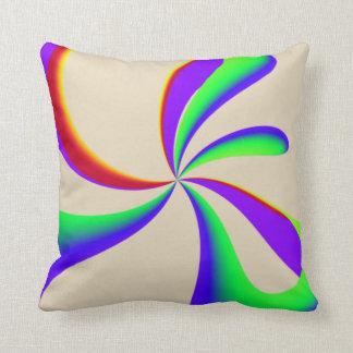 Almofada Redemoinho da fita do arco-íris