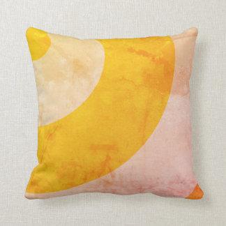 Almofada Redemoinhos bonito do amarelo