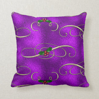 Almofada Redemoinhos românticos do Natal do Lilac