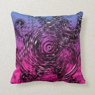 Almofada Redemoinhos violetas e pretos cor-de-rosa