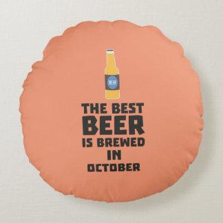 Almofada Redonda A melhor cerveja é em outubro Z5k5z fabricado